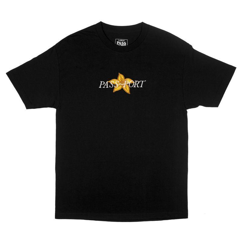 画像1: PASS〜PORT [パスポート] DAFFODIL APRIQUE TEE BLACK (1)
