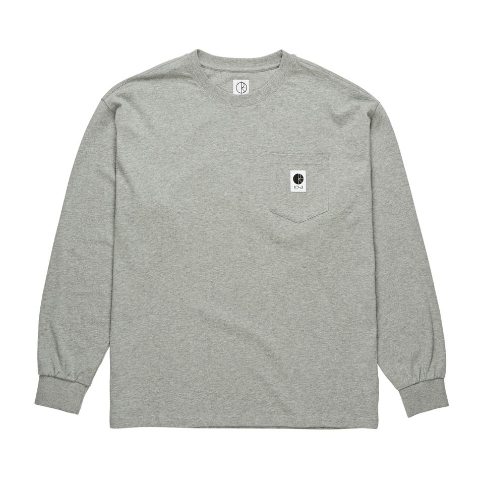 画像1: POLAR SKATE CO.[ポーラースケート] POCKET LONGSLEEVE H.GREY (1)