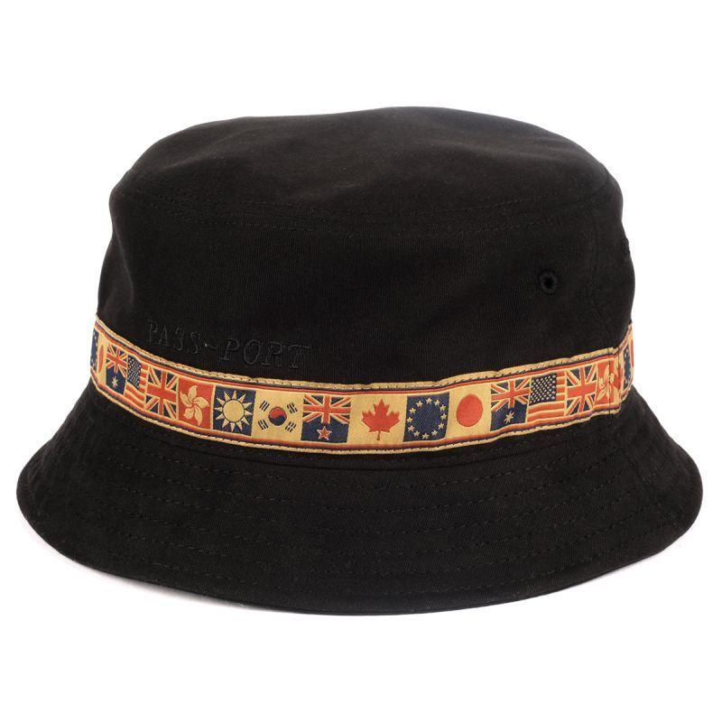 """画像1: PASS〜PORT. """"INTER SOLID BUCKET HAT"""" - BLACK (1)"""