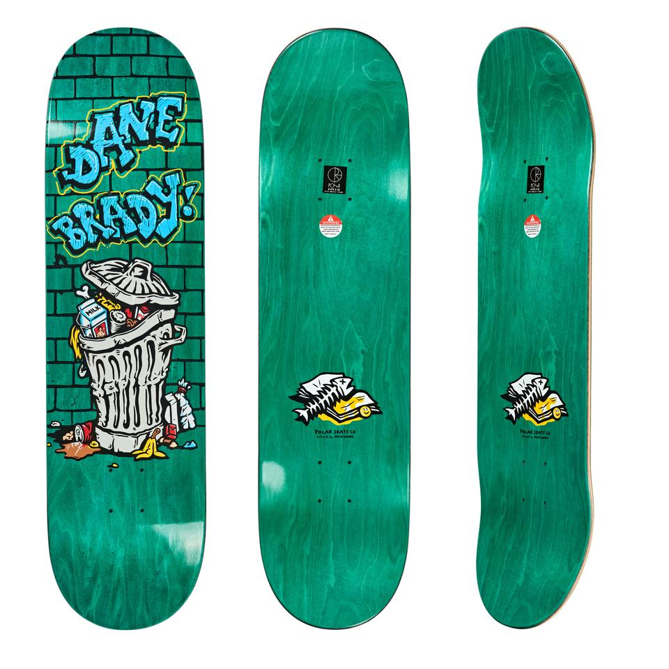 "画像1: POLAR SKATE CO. ""DANE BRADY - TRASH CAN"" - 8.125inch (1)"