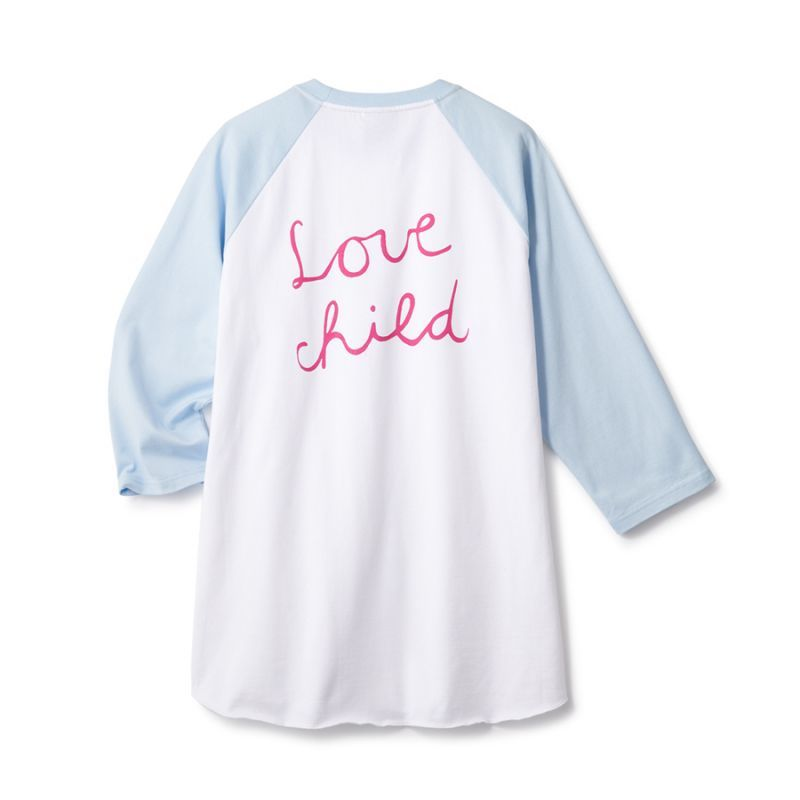 画像1: FTC [エフティーシー] LOVE CHILD 7/S RAGLAN - WHITE (1)