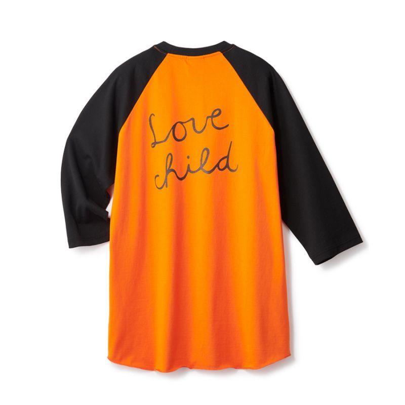 画像1: FTC [エフティーシー]  LOVE CHILD 7/S RAGLAN - ORANGE (1)