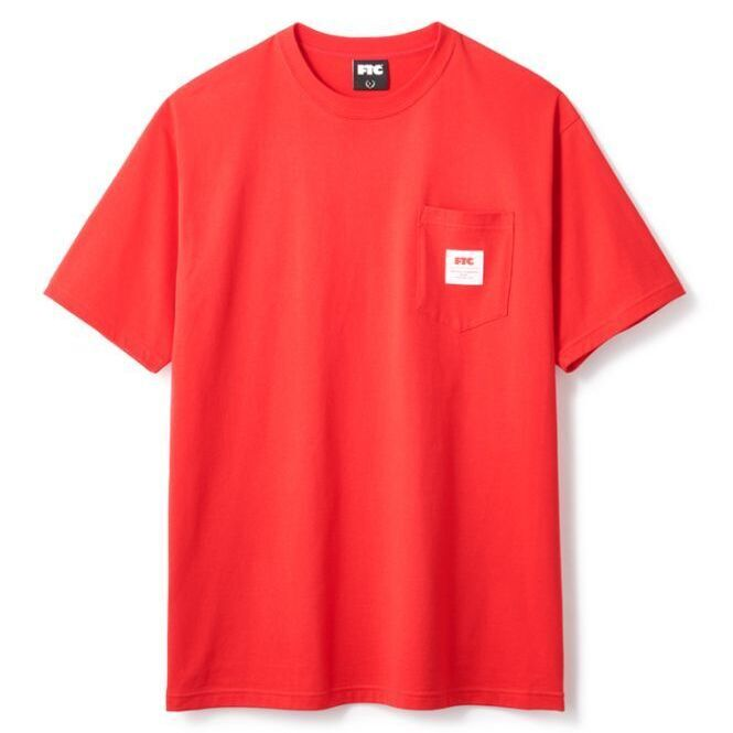 画像1: FTC [エフティーシー] POCKET TEE - RED (1)