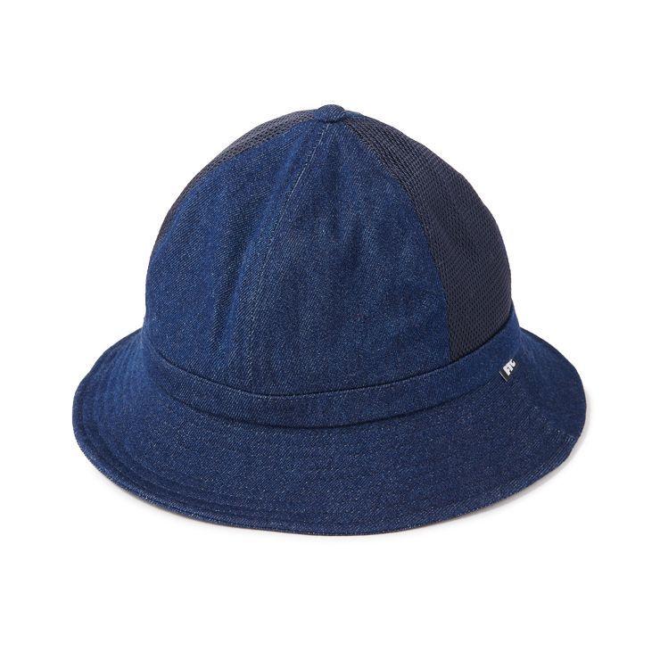 画像1: FTC [エフティーシー] MESH DENIM BELL HAT INDIGO (1)