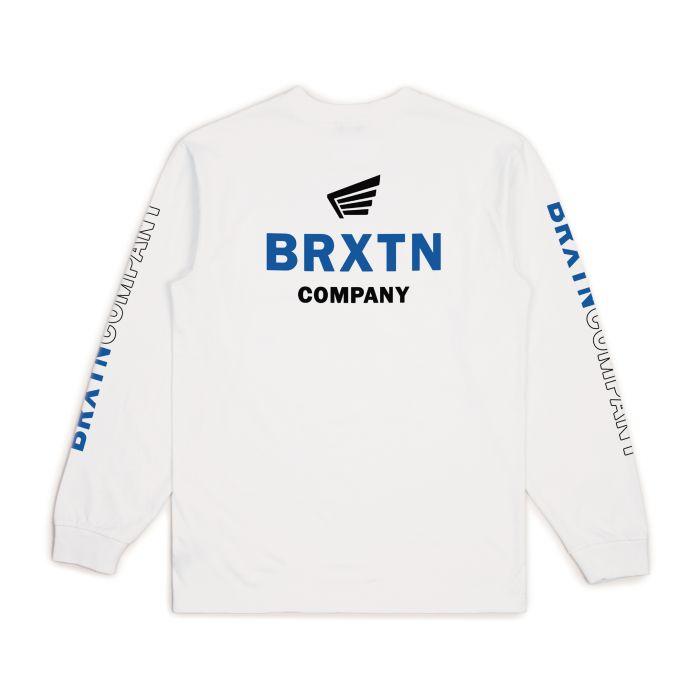 画像1: BRIXTON [ブリクストン] PEABODY II SV L/S STANDARD TEE WHITE (1)