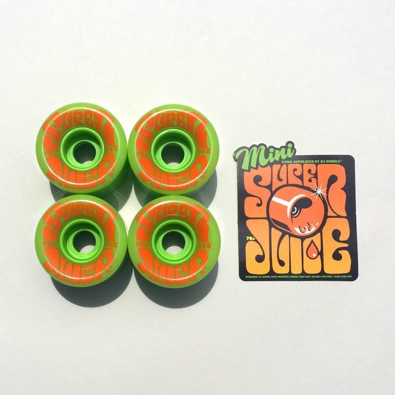 画像1: OJ WHEELS [オージェイウィール] MINI SUPER JUICE 55MM 78A GREEEN (1)