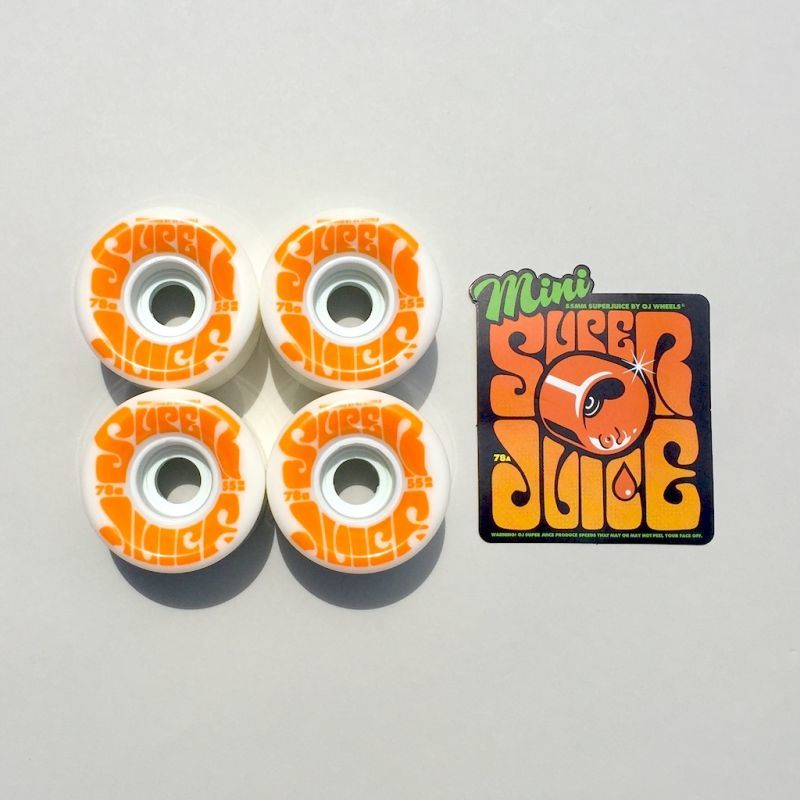 画像1: OJ WHEELS [オージェイウィール] MINI SUPER JUICE 55MM 78A  WHITE (1)