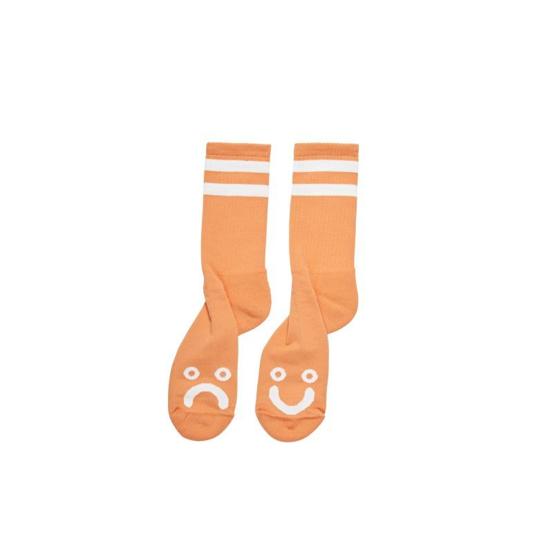 画像1: POLAR SKATE CO.[ポーラースケート]  HAPPY SAD SOCKS ORANGE (1)