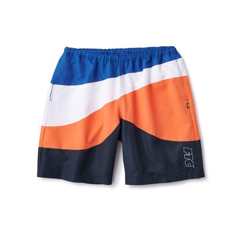 画像1: FTC [エフティーシー] CURVE BEACH SHORTS BLUE (1)