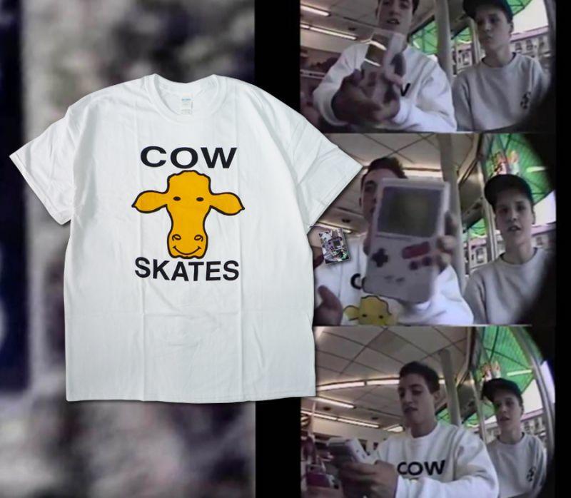 画像1: DEAR SKATING [ディアースケーティング] OHIO COLLECTION COW SKATES TEE (1)