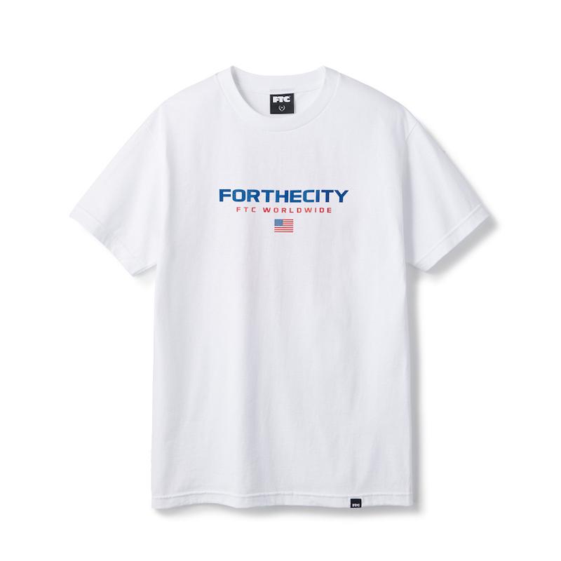 画像1: FTC [エフティーシー] WORLDWIDE TEE WHITE (1)