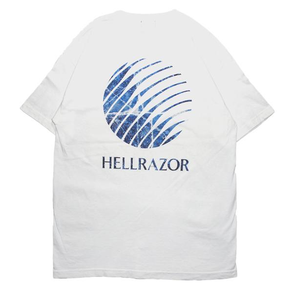 画像1: HELLRAZOR [ヘルレイザー] HELLRAZOR INFERNO LOGO SHIRT WHITE (1)
