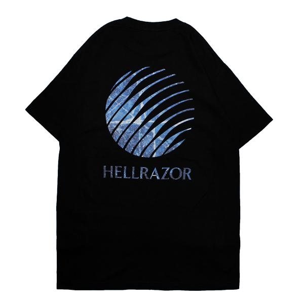 画像1: HELLRAZOR [ヘルレイザー] HELLRAZOR INFERNO LOGO SHIRT BLACK (1)