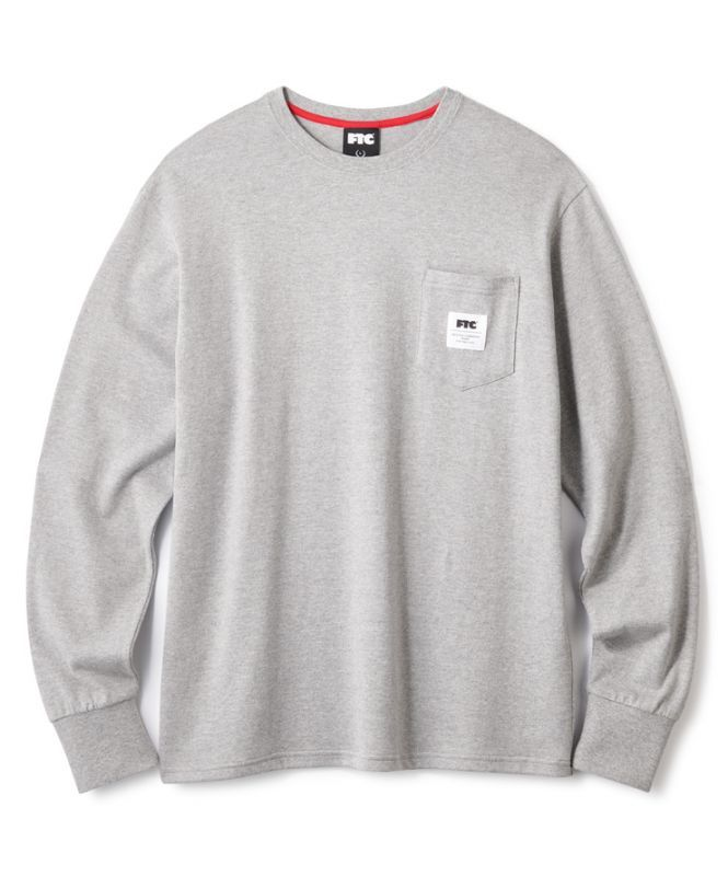 画像1: FTC [エフティーシー] FTC POCKET L/S TEE GRAY (1)