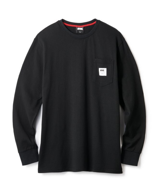 画像1: FTC [エフティーシー] FTC POCKET L/S TEE BLACK (1)