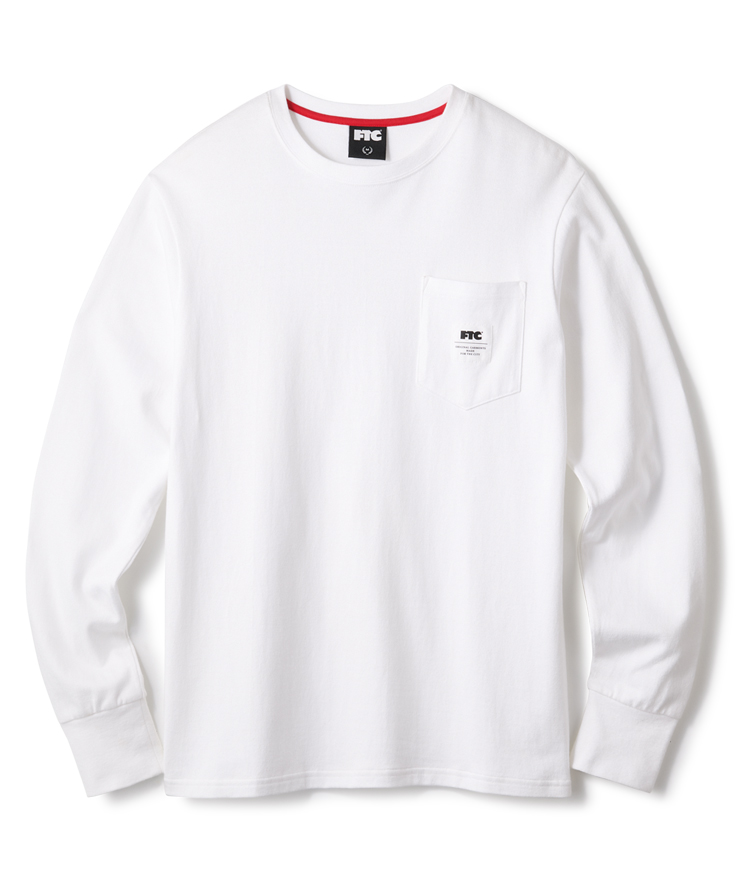 画像1: FTC [エフティーシー] FTC POCKET L/S TEE WHITE (1)