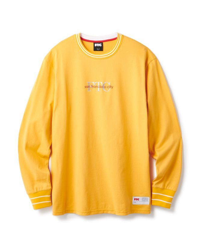 画像1: FTC [エフティーシー] FTC STRIPE RIB L/S TOP MUSTARD (1)