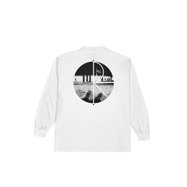画像1: POLAR SKATE CO.[ポーラースケート] HAPPY SAD FILL LOGO LONGSLEEVE WHITE (1)