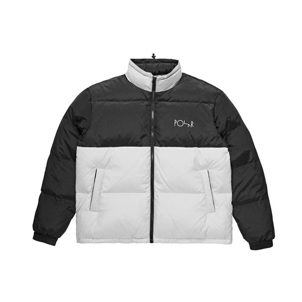 画像1: 【SALE】POLAR SKATE CO.[ポーラースケート]COMBO PUFFER - BLACK & ICE GREY (1)