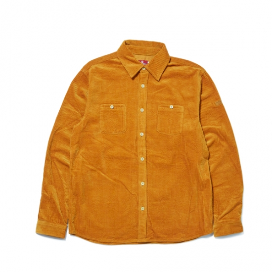 画像1: HELLRAZOR [ヘルレイザー] UNDER GROUND FORCES CORDUROY SHIRT YELLOW (1)