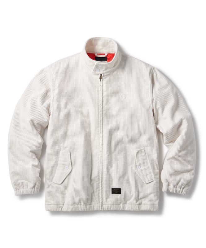 画像1: FTC  [エフティーシー]CORDUROY HARRINGTON JACKET OFF WHITE (1)