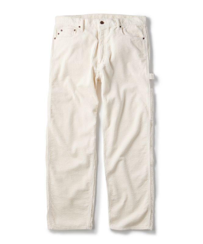 画像1: FTC [エフティーシー] CORDUROY PAINTER PANT WHITE (1)