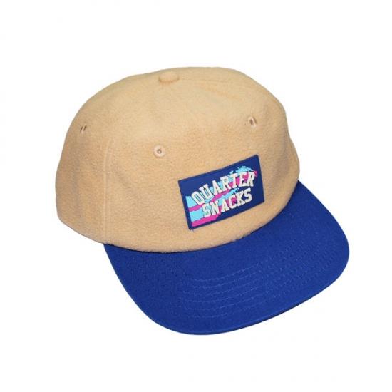 画像1: QUARTERSNACKS [クウォータースナックス] FLEECE CAP CREAM/BLUE (1)
