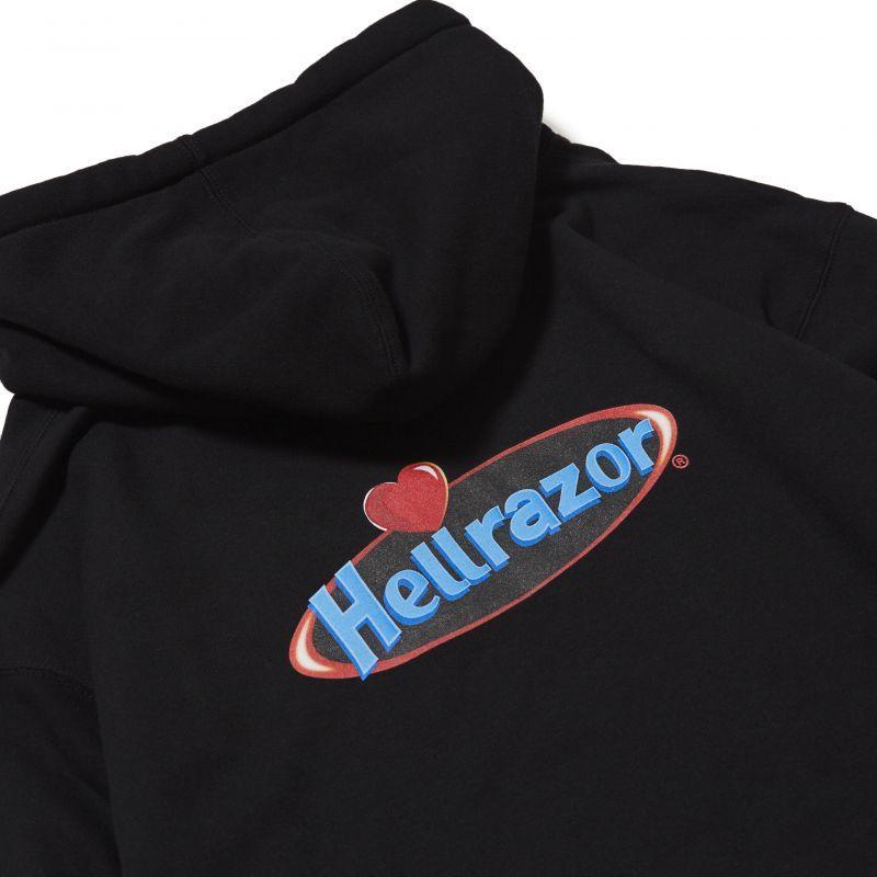 画像1: HELLRAZOR [ヘルレイザー] SWEETNESS PULL OVER HOODIE - black (1)