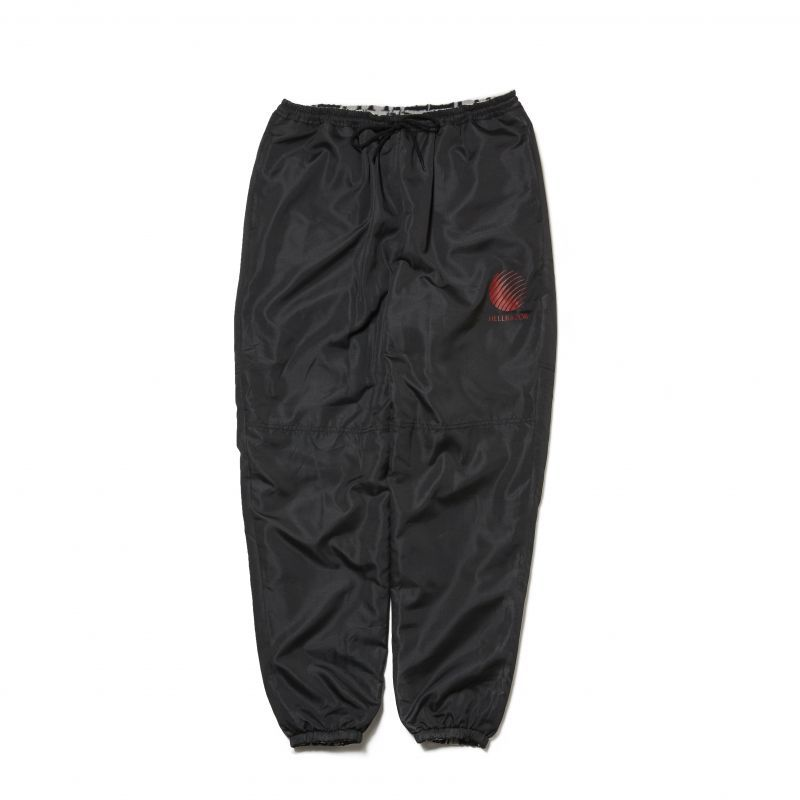 画像1: HELLRAZOR [ヘルレイザー]LOGO REVERSIBLE FLEECE NYLON PANTS - Black (1)