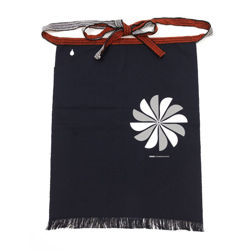 画像1: COLOR COMMUNICATIONS[カラーコミュニケーションズ] APRON / HALF DRIP SWIRL POCKET NAVY (1)