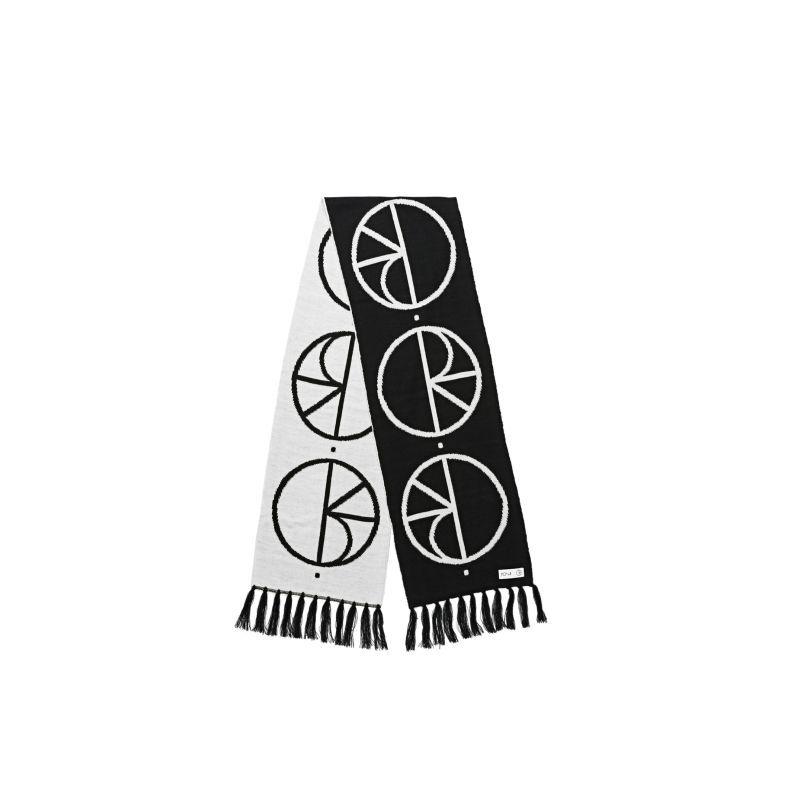 画像1: POLAR SKATE CO.[ポーラースケート] STROKE LOGO SCARF - BLACK/WHITE (1)