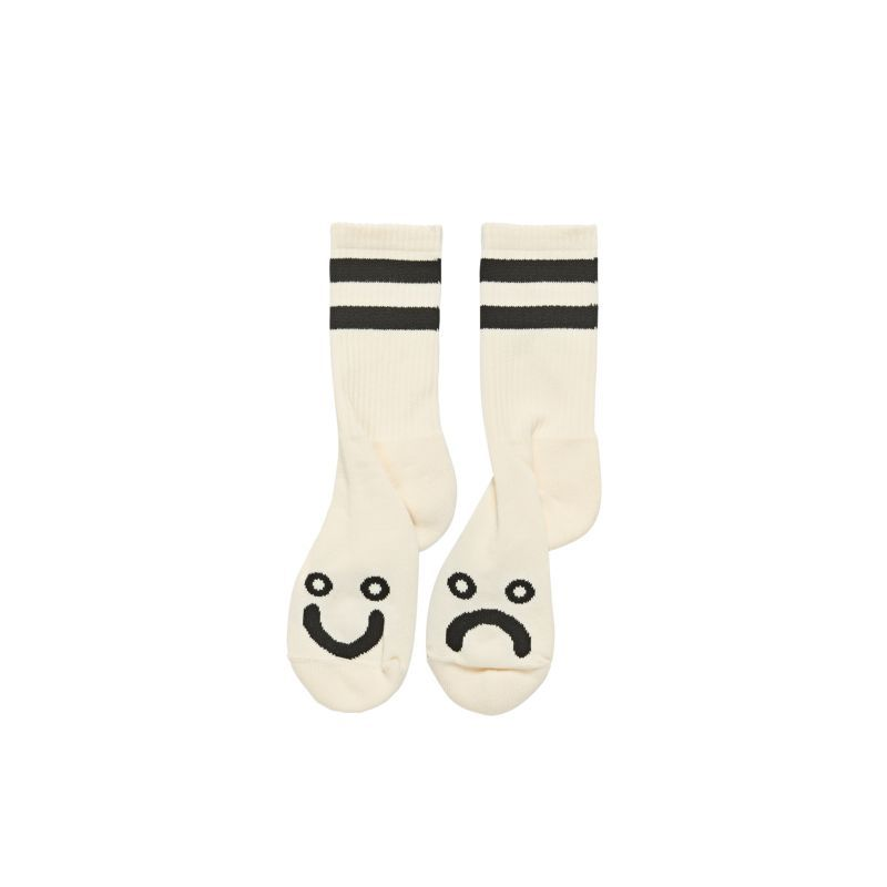 画像1: POLAR SKATE CO.[ポーラースケート] HAPPY SAD SOCKS - IVORY (1)