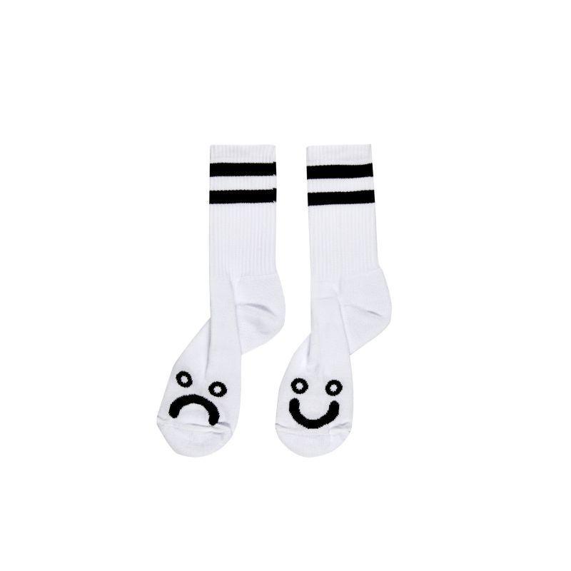 画像1: POLAR SKATE CO.[ポーラースケート] HAPPY SAD SOCKS - WHITE (1)