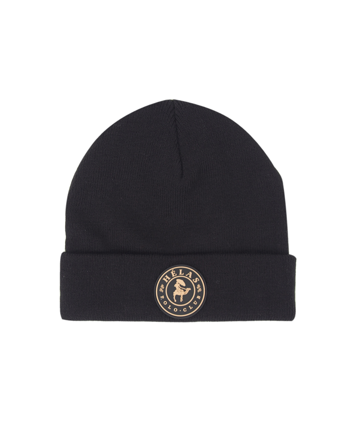画像1: HELAS [ヘラス] POLO CLUB BEANIE BLACK (1)