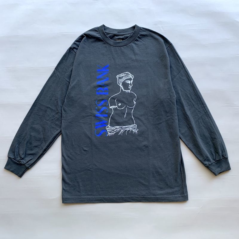 画像1: SWISS BANK / STATUE LS TEE - CHARCOAL  (1)