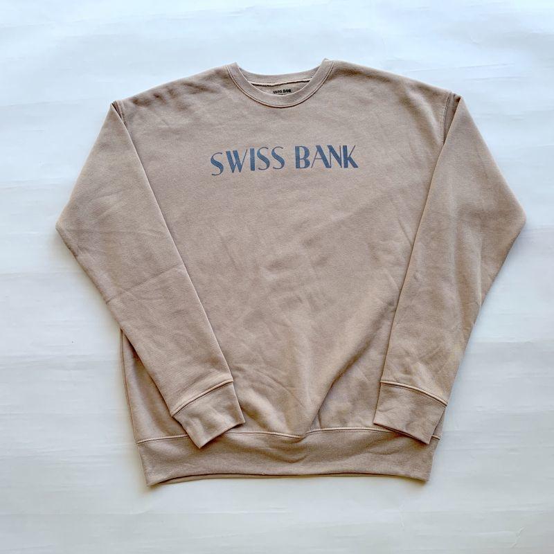 画像1: SWISS BANK / CREW NECK - TAN (1)