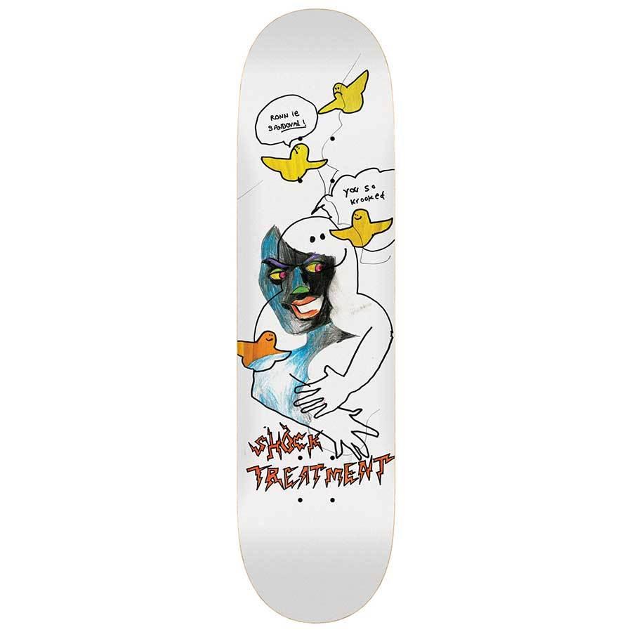"""画像1: KROOKED SKATEBOARDS [クルキッド スケートボード] RONNIE SANDOVAL PRO MODEL SHOCK TREATMENT - 8.25×32"""" (1)"""