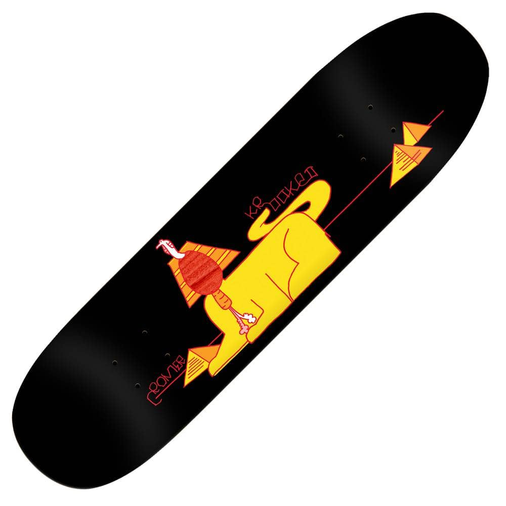 """画像1: KROOKED SKATEBOARDS [クルキッド スケートボード] BRAD CROMER PRO MODEL SFINGX - 8.38×31.7""""(FOOTBALL SHAPE) (1)"""