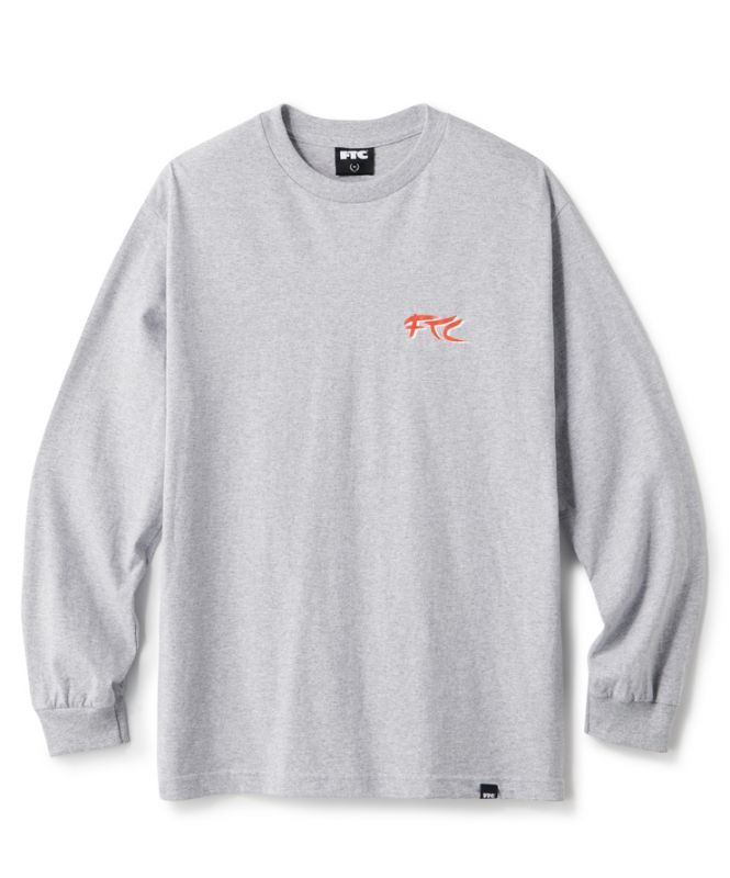 画像1: FTC [エフティーシー] KANG FU ACTION THEATRE L/S TEE - ASH HEATHER (1)