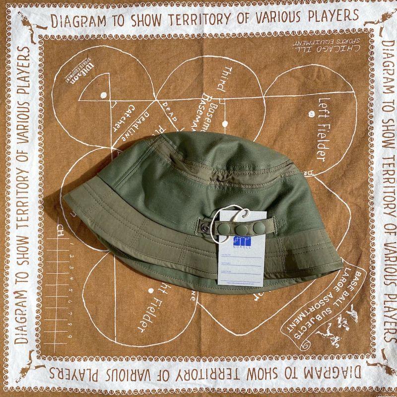 画像1: NOROLL [ノーロール] DOZEN VISOR HAT - OLIVE (1)