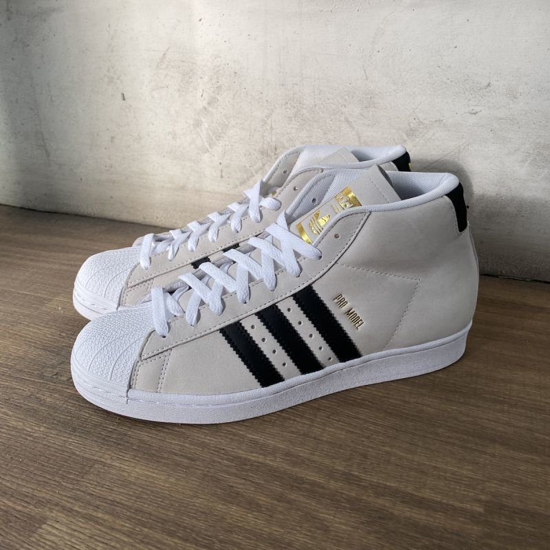 画像1: ADIDAS [アディダス] PRO MODEL SHOES - CLOUD WHITE (1)