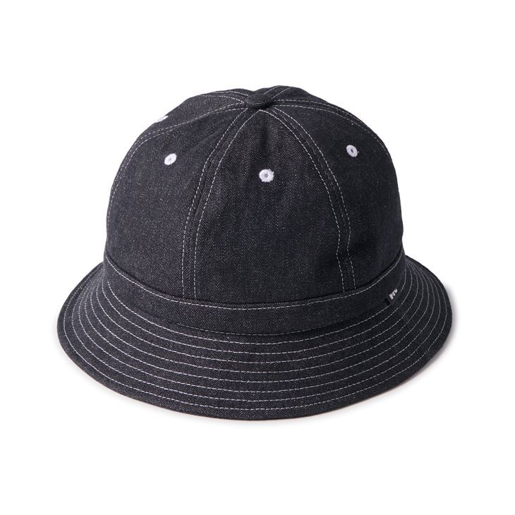 "画像1: FTC ""DENIM BELL HAT"" - BLACK (1)"