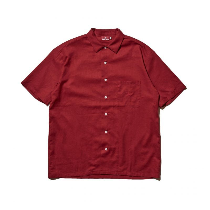 "画像1: HELLRAZOR ""h SOLID SHIRT"" - BURGUNDY (1)"