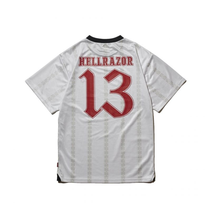 "画像1: HELLRAZOR ""13 FOOTBALL JERSEY"" - WHITE (1)"