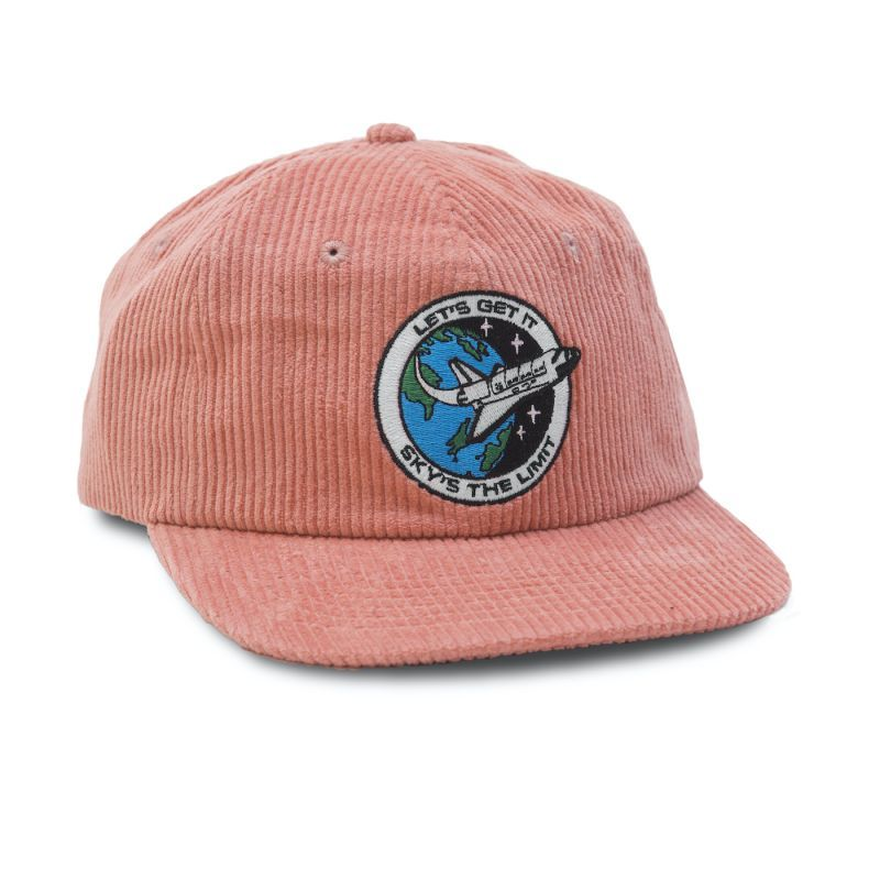 "画像1: QUARTERSNACKS ""SKY'S THE LIMIT CAP"" - PINK CORD (1)"
