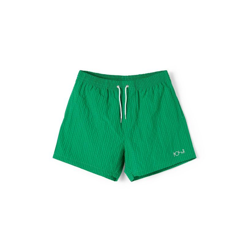 "画像1: POLAR SKATE CO. ""SEERSUCKER SWIM SHORTS"" - GREEN (1)"