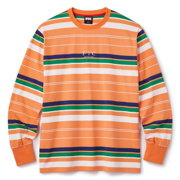 "画像1: FTC ""STRIPE L/S TOP"" - ORANGE (1)"