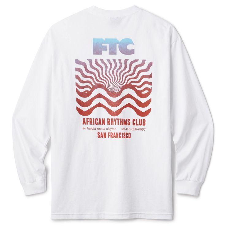 """画像1: FTC """"AFRICAN RTYHMS L/S TEE"""" - WHITE (1)"""
