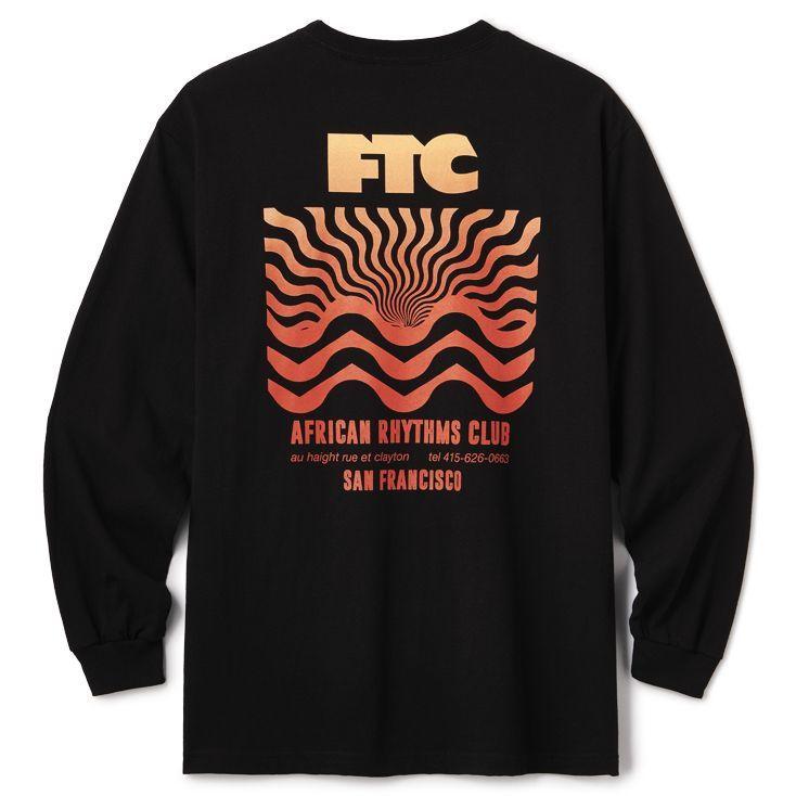 """画像1: FTC """"AFRICAN RTYHMS L/S TEE"""" - BLACK (1)"""