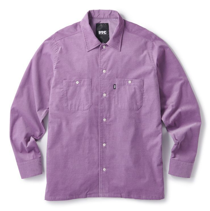 "画像1: FTC ""CORDUROY WORK SHIRT"" - PURPLE (1)"